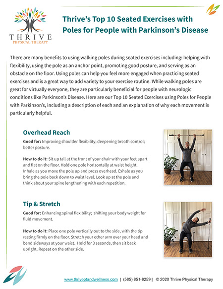 Thrive's Top 10 Seated Exercises with Poles for People with Parkinson's Disease