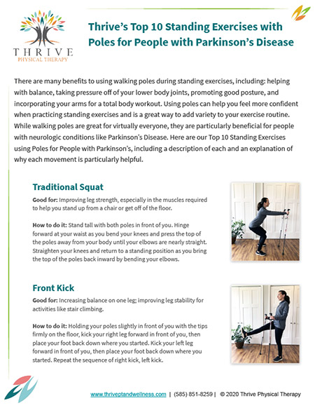 Thrive's Top 10 Standing Exercises with Poles for People with Parkinson's Disease